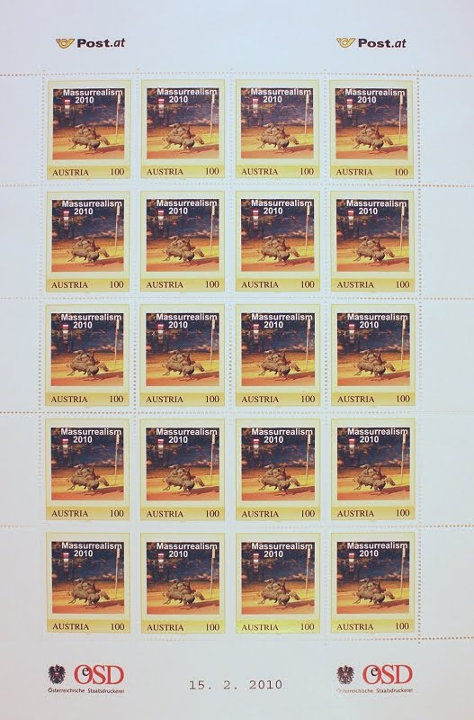 Artistamps (official Austrian Postage) 2010 by James Seehafer