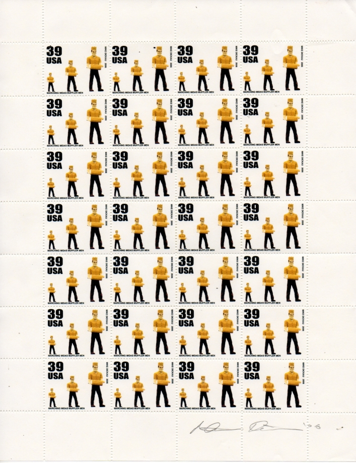 AEN.2010.022 | Mike Dickau | USA | artistamp sheet | 11x8.5 inches | signed