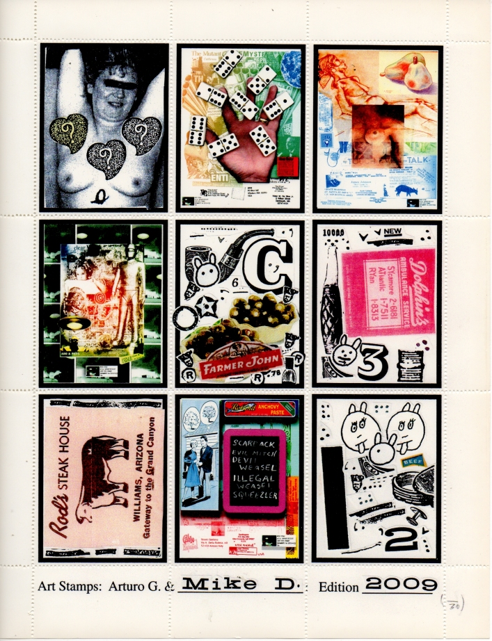AEN.2010.024 | Mike Dickau | USA | artistamp sheet | 11x8.5 inches