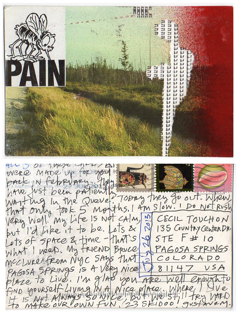 OM.2013.083 | Gustave Morin | Canada | postcard with note and collage elements